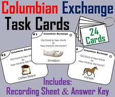 Columbian Exchange Task Cards