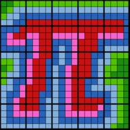 Colouring by Circle Area & Perimeter, Pi (25 Sheet Mosaic)