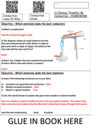 Energy Transfer by Conduction Homework