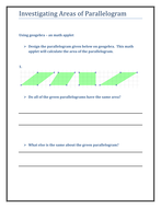Parallelogram Activity Worksheet By Tes Km Teaching Resources Tes