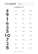 Age in Spanish - numbers 1-10 - worksheets by lisadominique ...