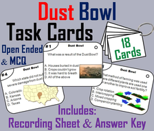 The Dust Bowl Task Cards