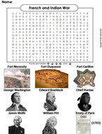 French and Indian War Word Search