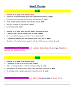 SPAG / GPS SATs Revision - Word Classes