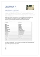 EDEXCEL English Language Paper 1 Question 4