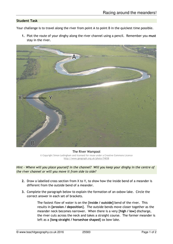 New AQA GCSE - River Landscapes in the UK Lesson #3