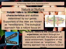 what is nature vs nurture psychology