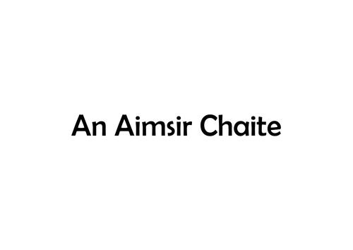 Gaeilge: Leabhair Bheaga- briathra, an maith leat?, cé hé/hí seo?