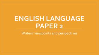 AQA English language paper 2 - Q2