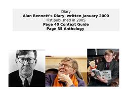 OCR EMC Anthology- Alan Bennett Diary, 2000