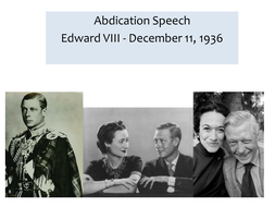 OCR EME Anthology Edward VIII Abdication Speech