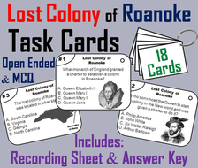 The Lost Colony of Roanoke Task Cards