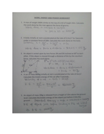 Work Energy And Power Worksheet With Answer