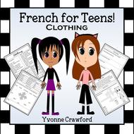 French Clothing Words - Les Vêtements en Français