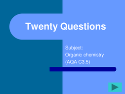 FUN revision resouce for GCSE Triple Chemistry Organic ...