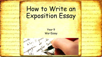 how to write an exposition introduction