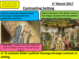 Blake - Songs of Experience - AQA Social Protest: Comparing Poems