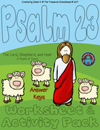 Psalm23-TheLordIsMyShepherdWorksheet-ActivityPackAnswerKeys2017byTheTreasuredSchoolhouse.pdf