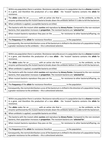 AQA AS & A-level Biology (2016 specification). Section 4 Topic 9: Genetic diversity 4 Selection