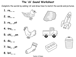 The 'ck' Sound - Animated PowerPoint presentation and worksheets ...