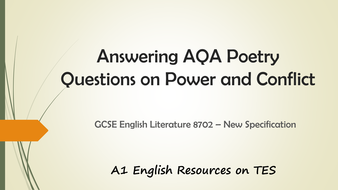 gcse poetry essay tips Gcse strengthened english literature teachers' guide 1 tips on tackling unseen poetry questions 31-32 closed book examinations.