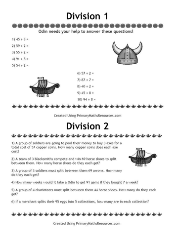 Word Search Worksheets For Kindergarten Word Viking Themed Division Problems For Year  Classes By  Rounding Decimals Worksheet 5th Grade Word with College Worksheets Printables Pdf Viking Themed Division Problems For Year  Classes By Primarymathsresources   Teaching Resources  Tes Natural Resources Worksheet Pdf