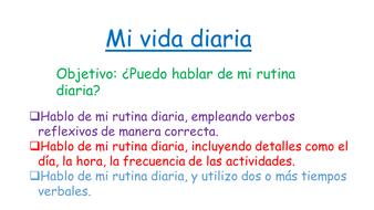 Mi Vida Diaria Puedo Hablar De Mi Rutina Diaria By Jpooley58