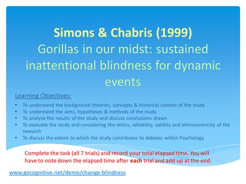Simons & Chabris (1999)