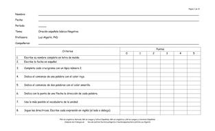 Crucigrama:  Gramática, vocabulario y sintaxis (1 de 6)