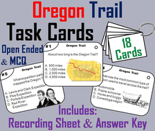 Oregon Trail Task Cards