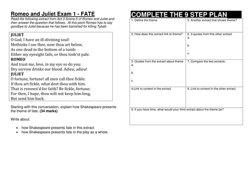 romeo and juliet the step method for answering gcse questions romeo and juliet the 9 step method for answering gcse questions by hmbenglishresources1984 teaching resources tes