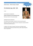 Elizabethan Age Eduqas/WJEC 9-1 Mock Exam Paper