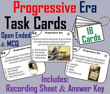 Progressive Era Task Cards