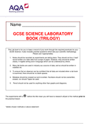 GCSE Student Labbook for AQA Required practicals (Trilogy)