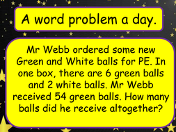 Year 6 SATs revision - a word problem a day