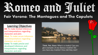 Romeo and Juliet: The Montagues and The Capulets (Analysis of Act 1 Scene 1)