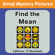 find the mean math average emoji mystery pictures by bios444
