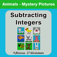 Nonfiction Reading Worksheets Subtracting Integers  Colorbynumber Mystery Pictures By Bios  Homophones Practice Worksheet with Ee Words Worksheet Subtractingintegersmysterypicturesanimalspdf Heat Energy Worksheet Pdf