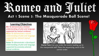 Romeo and Juliet: Act I Scene V - The Masquerade Ball Scene!