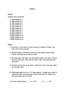 Year 6 Written Division Worksheets