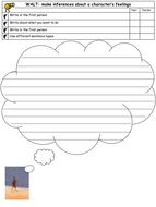 Lila and the secret of rain- differentiated thought bubbles worksheets