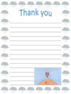 Lila and the secret of rain- writing activity- Thank you letter or note
