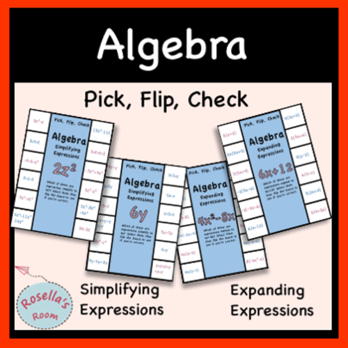 Algebraic Expressions Activities and Graphic Organisers by ...
