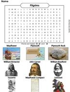 Pilgrims Word Search