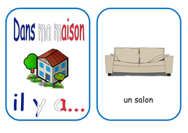 French Rooms In The House Flash Cards And Worksheet Ks12 By
