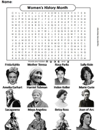 Women's History Month Word Search