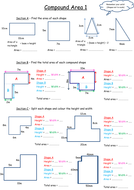 Compound area worksheet (scaffolded) by Teachers_Little_Helper ...