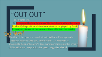 out out robert frost theme