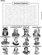 European Explorers Word Search