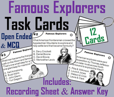 Famous Explorers Task Cards